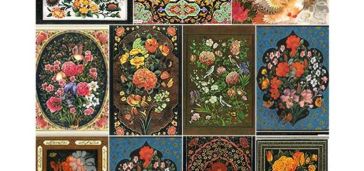 دانلود 11 پوستر با کیفیت گل و مرغ های اسلیمی متنوع