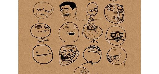 مجموعه براش های الگوهای رفتاری چهره ( ترول )