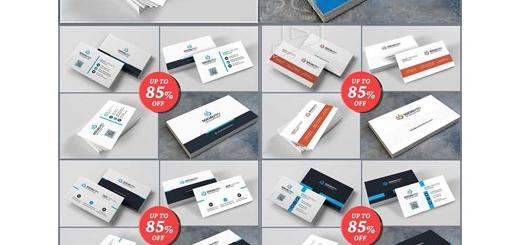 دانلود 10 قالب لایه باز کارت ویزیت های تجاری دورو