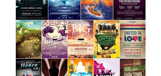 دانلود مجموعه تصاویر لایه باز گرافیک ریور - فلایر یا پوسترهای تبلیغاتی - دی وی دی 31 و 32