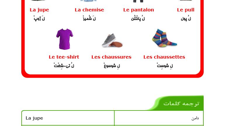 درس ششم آموزش زبان فرانسه - کلمات ابتدایی