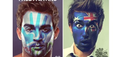 دانلود اکشن فتوشاپ ایجاد نقاشی روی صورت