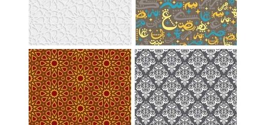 دانلود تصاویر وکتور پترن با طرح های عربی از شاتر استوک