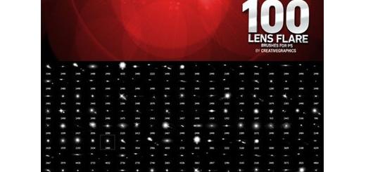 دانلود 100 براش فتوشاپ نورهای متنوع