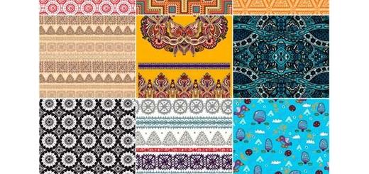 دانلود تصاویر وکتور پترن با طرح های تزئینی متنوع