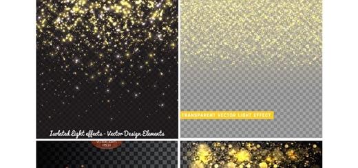 دانلود تصاویر وکتور افکت ذرات درخشان
