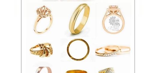 دانلود تصاویر با کیفیت حلقه طلا با جواهرات و سنگ های قیمتی