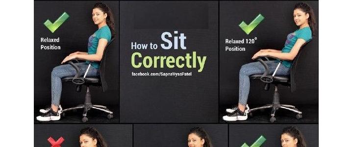 طرز صحیح نشستن برای پیشگیری از کمر درد و گردن درد