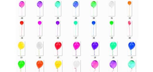 دانلود 50 کلیپ آرت بادکنک های رنگی متنوع بدون بک گراند