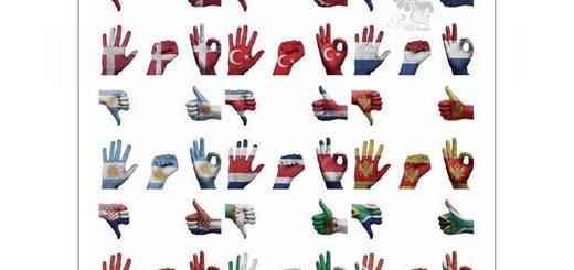 دانلود تصاویر با کیفیت دست انسان با طرح پرچم کشورهای مختلف