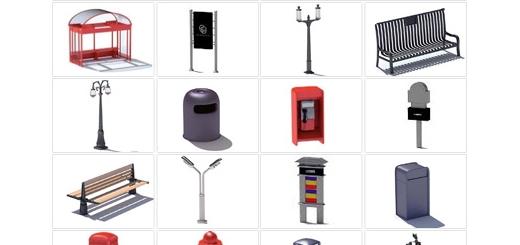 دانلود مدل های آماده سه بعدی آرچ مدل - المان و مبلمان شهری شامل بیلبورد، کیوسک تلفن، چراغ برق، ایستاه اتوبوس و ... - شماره 13