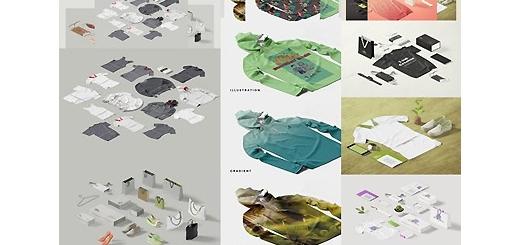 دانلود مجموعه تصاویر لایه باز قالب پیش نمایش یا موکاپ لباس و لوازم جانبی