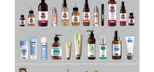 دانلود تصاویر وکتور بطری محصولات آرایشی و بهداشتی و دارو