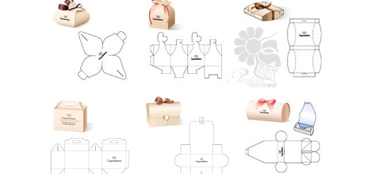 دانلود تصاویر وکتور قالب آماده برش جعبه های متنوع شیرینی، هدیه، جواهرات و ...