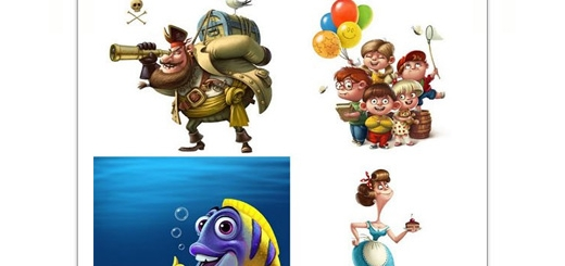 دانلود تصاویر با کیفیت شخصیت های کارتونی بامزه