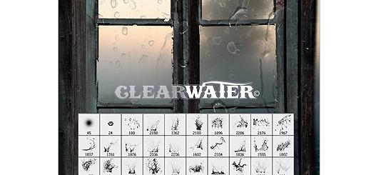 دانلود براش ایجاد قطره شفاف آب