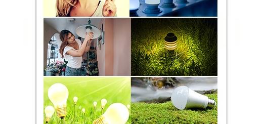 دانلود تصاویر با کیفیت لامپ کم مصرف و طبیعت