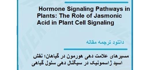 مقاله ترجمه شده در مورد مسیرهای علامت دهی هورمون در گیاهان (دانلود رایگان اصل مقاله)