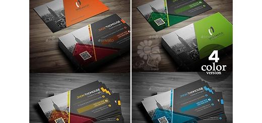 دانلود تصاویر لایه باز کارت ویزیت با چهار رنگ متنوع