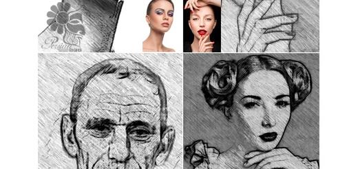دانلود اکشن فتوشاپ تبدیل تصاویر به نقاشی با مداد
