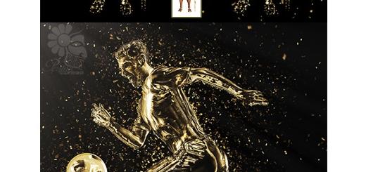 دانلود اکشن تبدیل تصاویر به مجسمه طلا با افکت ذرات پراکنده طلایی به همراه آموزش ویدئویی