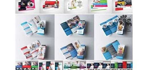 دانلود 300 تصویر لایه باز قالب های آماده بروشور، فلایر و کارت ویزیت تبلیغاتی