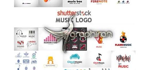 دانلود مجموعه ۲۵ تصویر لوگوی وکتور موسیقی از ShutterStock