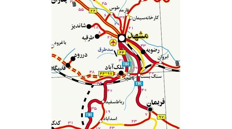 دانلود نقشه وکتور از تمامی راه های ایران با قابلیت بزرگنمایی بی نهایت