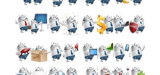 دانلود 100 تصویر وکتور کاراکترهای کارتونی تجاری