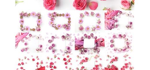 دانلود 20 فریم گلدار آماده