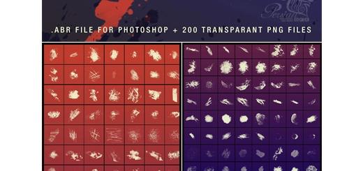 دانلود 200 براش فتوشاپ عناصر طراحی متنوع گرانج، خط خطی، ترام، آبرنگی و ...