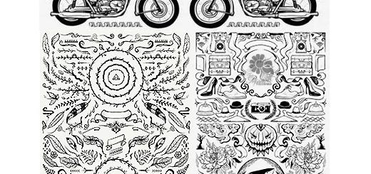 دانلود مجموعه تصاویر وکتور عناصر طراحی متنوع - CM Hand Drawn Vectors Bundle