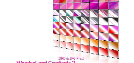 گرادینت های زیبا با رنگ هایی شاد و جذاب شماره دو - WonderLand Gradients 02