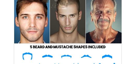 دانلود اکشن فتوشاپ ایجاد ریش بر روی صورت