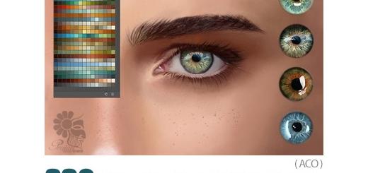 دانلود 330 سواچ رنگ چشم برای نقاشی دیجیتال در فتوشاپ