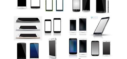 دانلود تصاویر وکتور گوشی های هوشمند