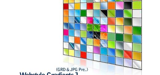 کاملترین گرادینت های وب سایت شماره یک - Webstyle Gradients 01