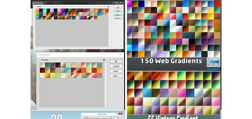 دانلود بیش از 700 گرادینت فتوشاپ برای طراحی