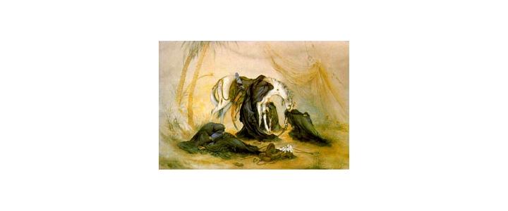 غربتش یاد آور تنهایی شیر خداست