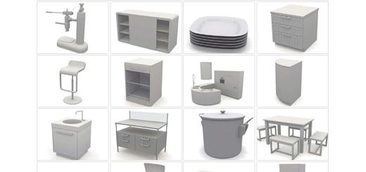 دانلود مدل های آماده سه بعدی آرچ مدل - آیتم ها و وسایل آشپز خانه مانند اجاق گاز، هود، یخچال و فریزر ... - شماره 10