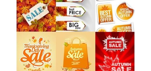 دانلود تصاویر وکتور فروش پاییز، برگ های پاییزی، پس زمینه و ...