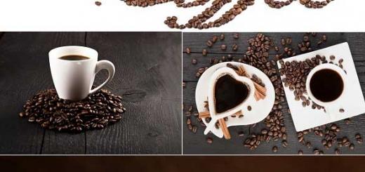 دانلود عکس استوک دانه و فنجان قهوه