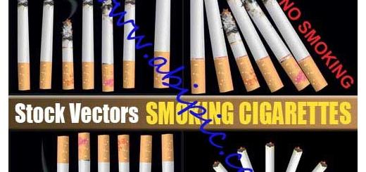 دانلود تصاویر استاک وکتور سیگار