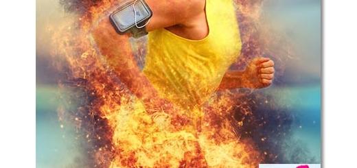 اکشن فتوشاپ انتشار شعله های آتش