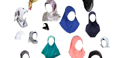 دانلود تصاویر لایه باز روسری، شال، حجاب