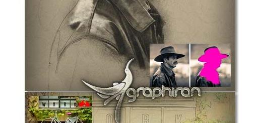 اکشن فتوشاپ تبدیل عکس به طراحی دستی Hand Drawn Photoshop Action