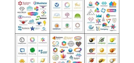 دانلود مجموعه تصاویر وکتور عناصر انتزاعی برای طراحی لوگو