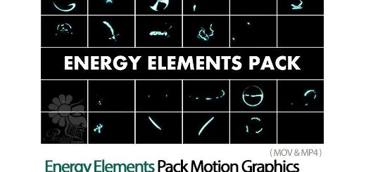 دانلود 22 فایل آماده ویدئویی المان های متحرک انرژی موشن گرافیک