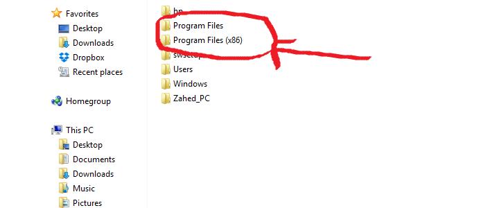 چرا در ویندوز دو فولدر Program Files دارد و یکی از آنها (x86) نام دارد؟