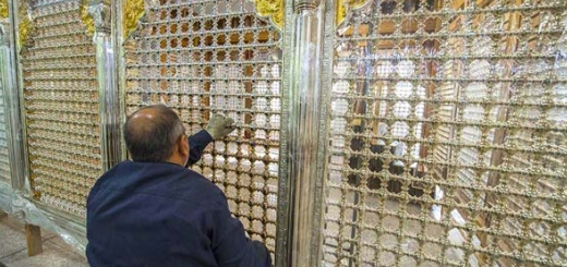 گزارش تصویری-ضریح جدید حرم مطهر حضرت عباس (ع)-zip